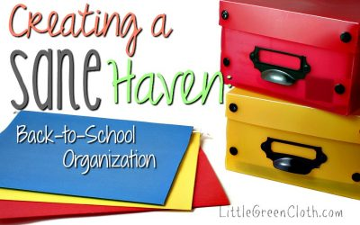 Creating a Sane Haven: Back to School Memories Organization