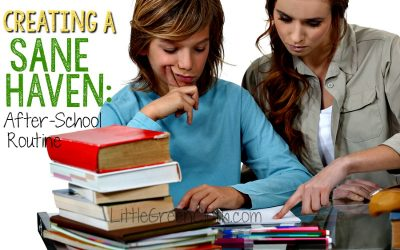 Creating a Sane Haven: After School Routine
