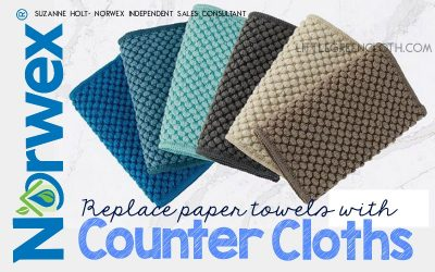 Replace Paper Towels with Norwex Counter Cloths!